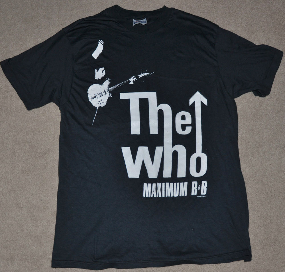 New vtg 80s the who maximum r&b 1989 kids are alright concert tour t