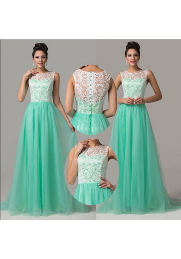 Dress mint dress mint evening dresses tulle prom for Can i make my own wedding dress