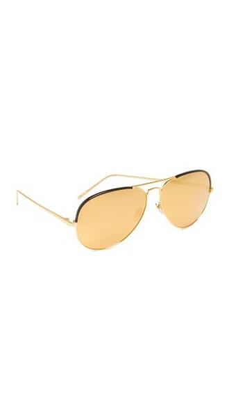 sunglasses aviator sunglasses gold black yellow