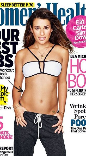 swimwear bikini top editorial lea michele