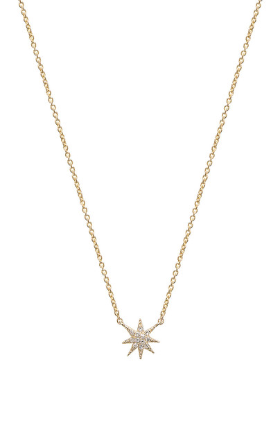 Sachi Star Necklace in gold / metallic