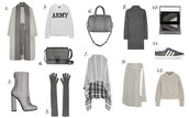 fashion vibe,blogger,bag,gloves,grey,winter outfits,grey sweater