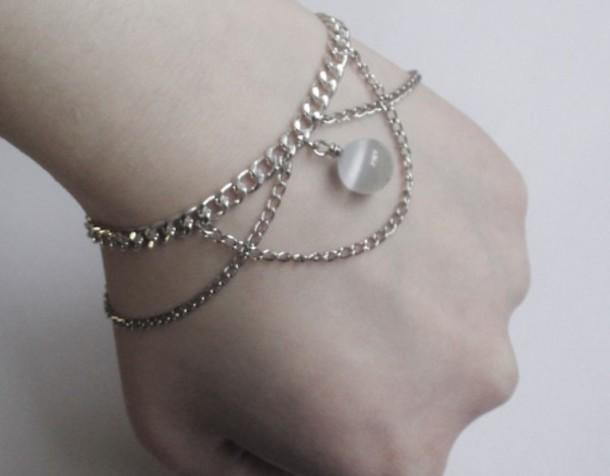 jewels, grunge, jewelry, silver, silver jewelry, cute ...
