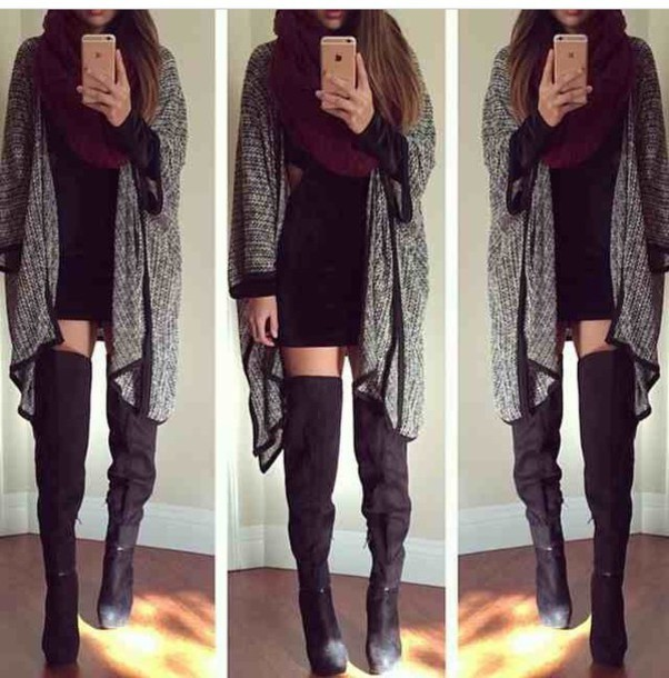 dress shoes scarf style cardigan