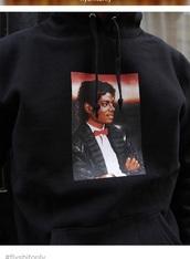 sweater,michael jackson,sweatshirt,black
