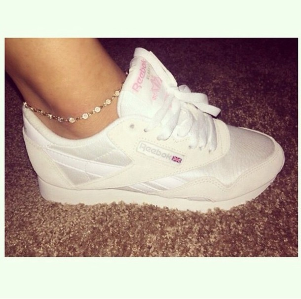 shoes, womens nylon white reebok classic shoes Wheretoget