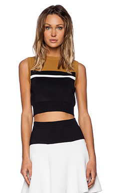 A.l.c. cory top in toffee, snow & black from revolveclothing.com