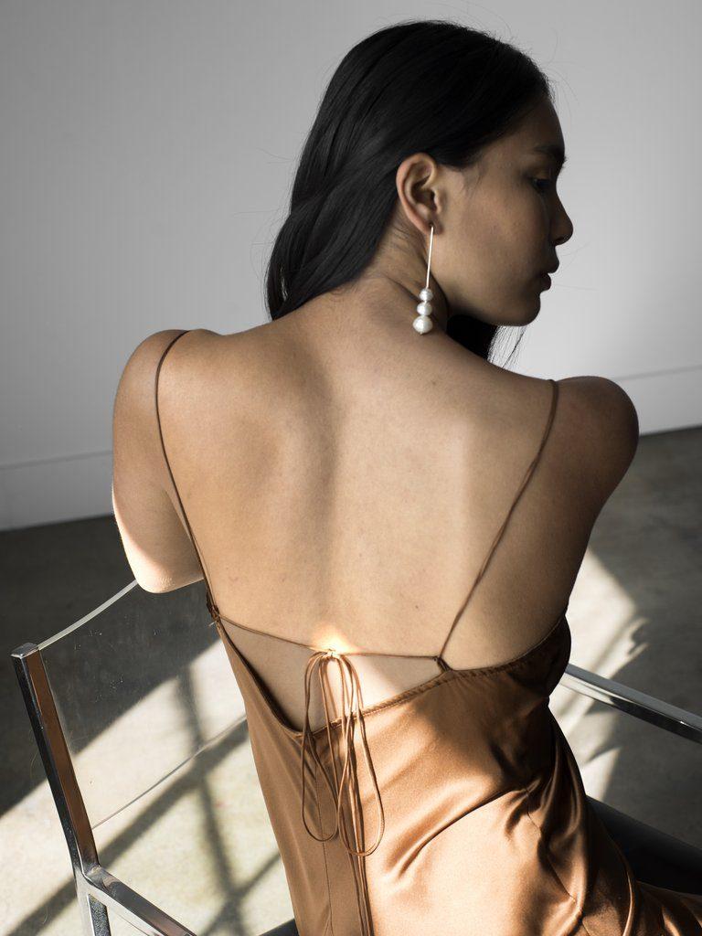 Sandoval Slip Dress - Bronze