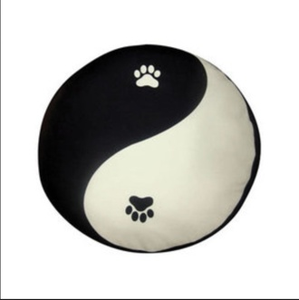 pajamas yin yang hipster alternative pillow cats black white