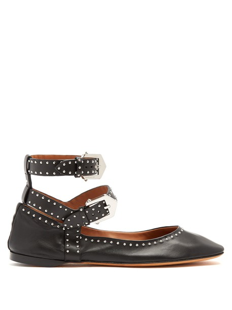 Givenchy embellished flats leather flats leather black shoes