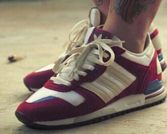 shoes beige adidas 36 burgundy
