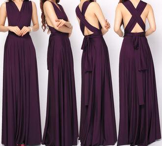 dress infinity dress bridesmaid long bridesmaid dress eggplant long infinity dress