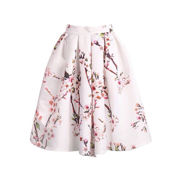 skirt white floral skirt white flowers