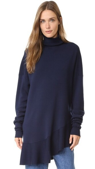 pullover flare navy sweater