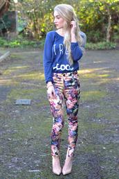 pants,trouser,floral,fashion blogger,Pop Couture