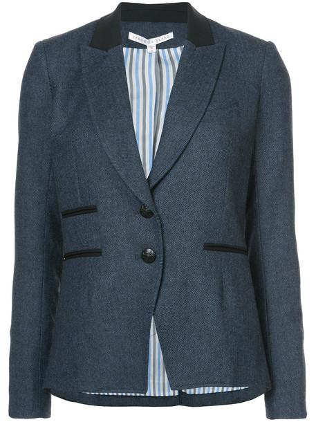 Veronica Beard jacket women spandex blue wool