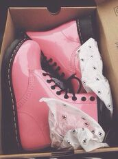 shoes,pink,patent shoes,boots,cute,kawaii,pastel,pink boots,shorts,DrMartens,grunge,vintage,laces,prom dress,high low,pink shoes,pink dr.martens,baby pink,baby pink shoes,pastel pink,alternative,hipster,pastel pink combat boots,lovely,timberlands