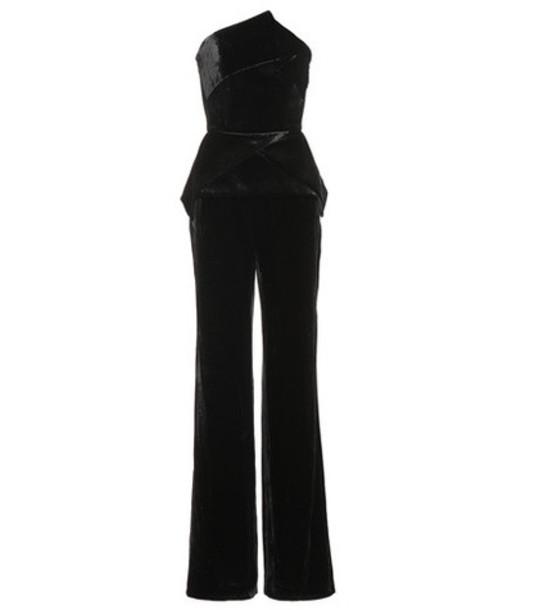 Roland Mouret Carradine velvet jumpsuit in black