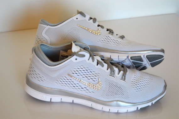 official photos 39165 c45c3 Nike Free Run 5.0 TR Fit 4 Breathe White Metallic Silver by Twisted Royalty