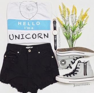 t-shirt jazrox unicorn unicorn tee unicorn t-shirt fashion summer hipster cool girly trendy style lookbook tumblr quote on it neon cute dope pretty outfit beach pastel beautiful instagram swag hot kawaii