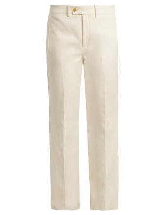 high cream pants