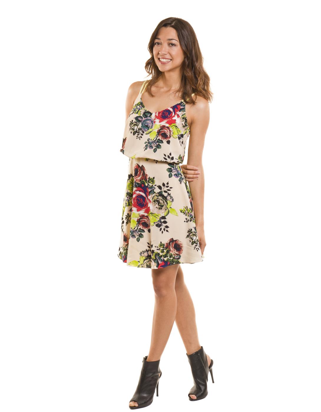 Vestido estampado floral flourish de Vila Clothes