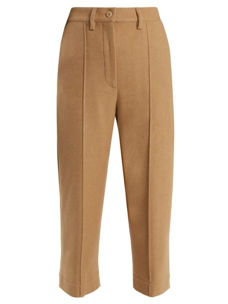 Mm6 Maison Margiela cropped wool camel pants