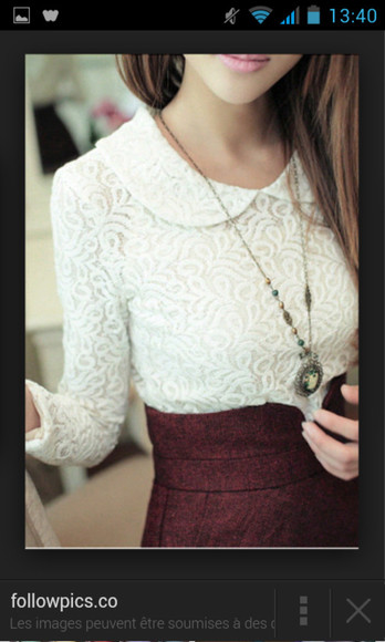 white lace white lace t-shirt white t shirt girly cute vintage fashion skirt