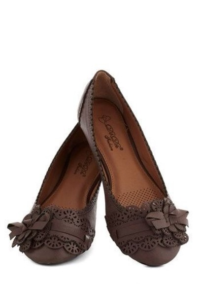 shoes flats brown shoes