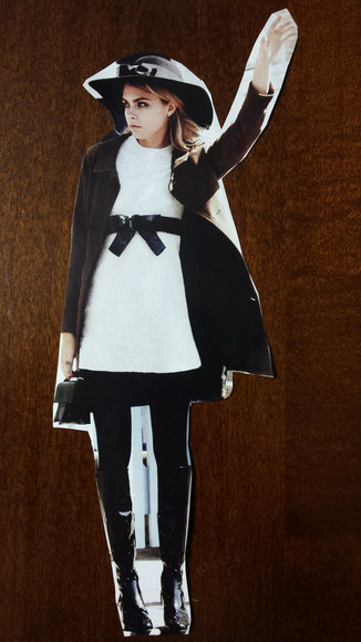 black and white dress white lace dress black ribbon yves saint laurent cara delevingne