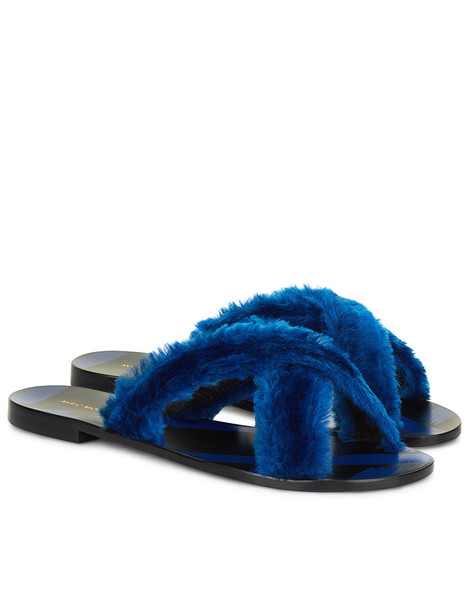 Avec Moderation cross fur blue