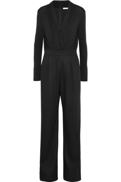 Max Mara jumpsuit draped black wool