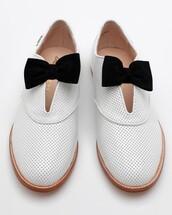 gh bass,rachel antonoff,bow,black,white,shoes