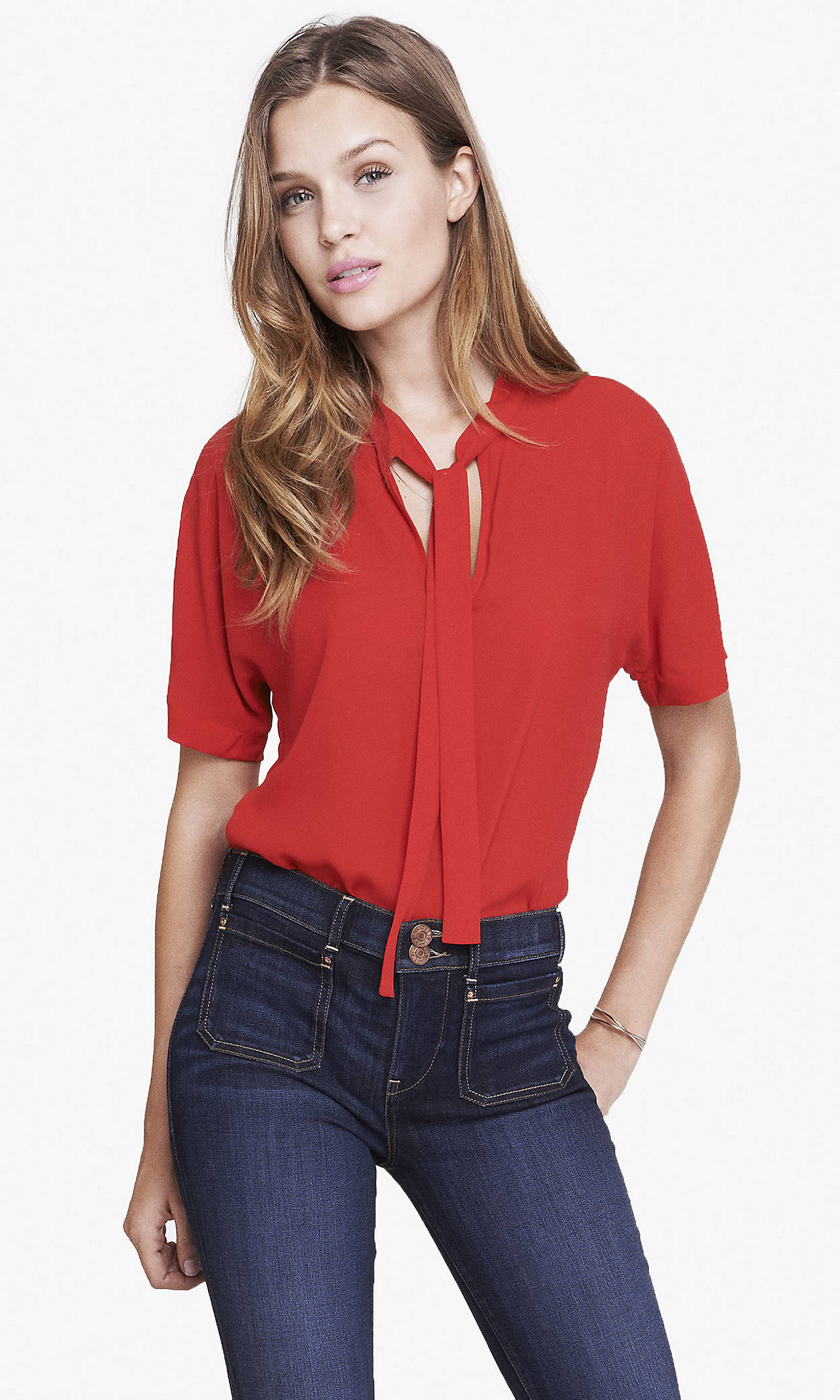 front short sleeve blouse from EXPRESS