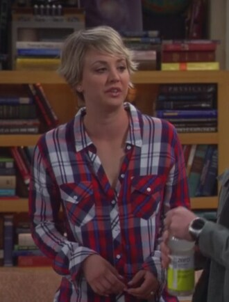 shirt red plaid penny kaley cuoco big bang theory flannel