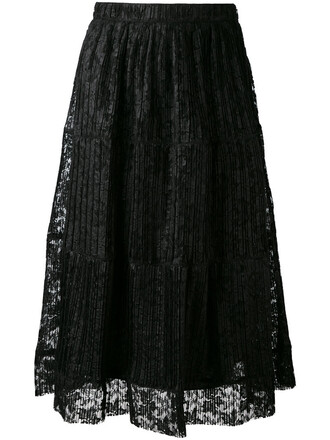 skirt pleated skirt pleated women cotton black
