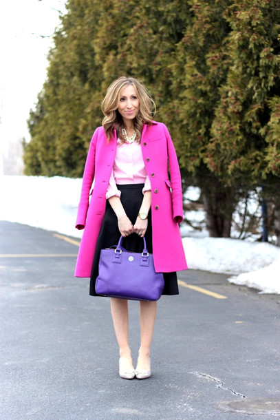 lilly's style coat shirt skirt shoes bag jewels