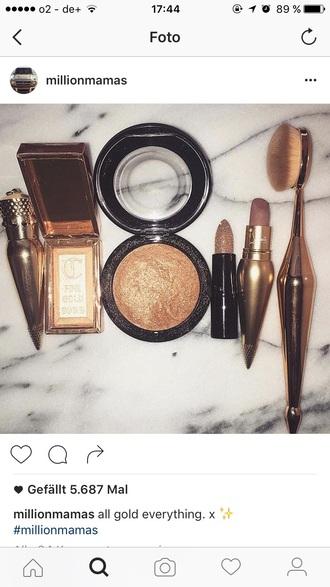 make-up gold makeup brushes