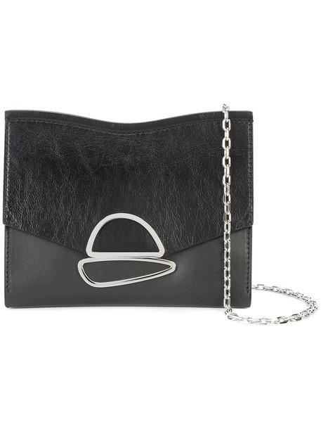 Proenza Schouler women clutch leather black bag