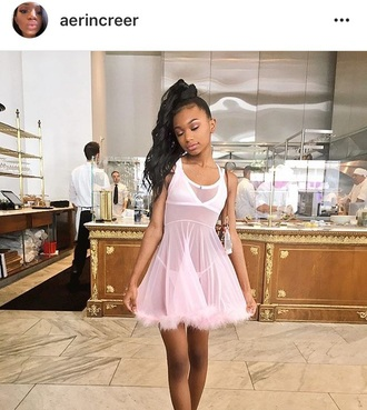 dress pink white rose light pretty classy halloween cute classy dress angle soft see through mesh clear sleep pajamas
