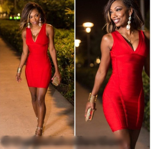 bodycon dress red dress