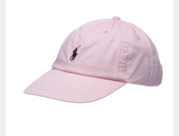 43c0bb1f hat, ralph lauren, baseball cap, cap, pink - Wheretoget