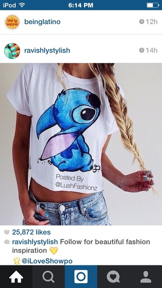 t-shirt stitch blue shirt white t-shirt