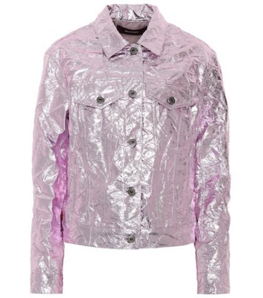 Sies Marjan Alby metallic jacket in pink