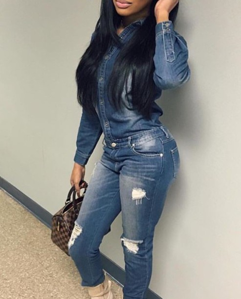 55d1a49f84b jeans jeans jumper jumpsuit cute one suit jump ripped ripped jeans