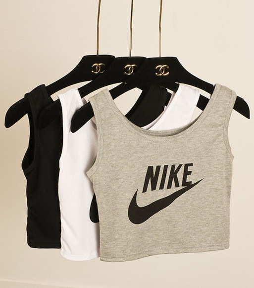 nike grey top balck and grey crop tops black and white crop tanks