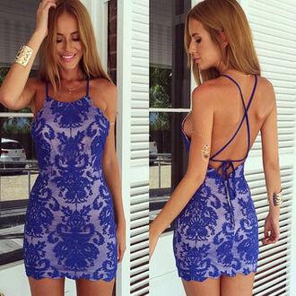 dress bodycon blue blue dress bodycon dress lace lace dress blue lace dress blue bodycon dress dreamclosetcouture