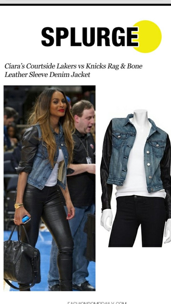 coat denim jacket bones ciara leggings
