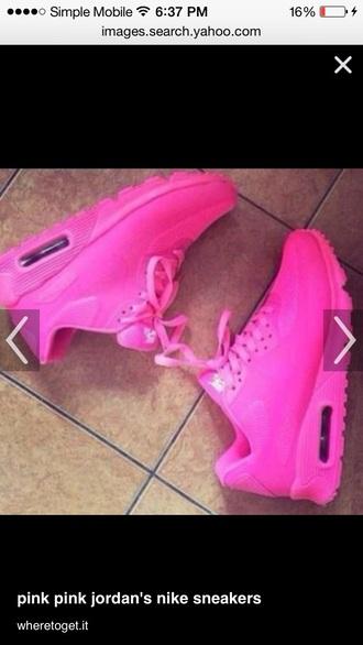 shoes pink nike air sneakers