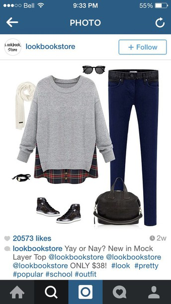 sweater grey sweater trendy cute outfit